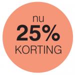 25% korting button